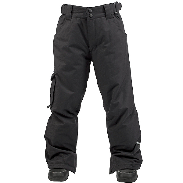 Ride Charger Kids Snowboard Pants, Black Twill, 600