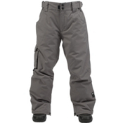 Ride Charger Kids Snowboard Pants, Gray Storm Twill, medium