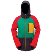 Ride Gatewood Mens Insulated Snowboard Jacket, Rasta, medium
