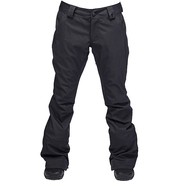 Ride Aurora Womens Snowboard Pants, Black Stretch Twill, 600