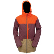 Ride Georgetown Mens Insulated Snowboard Jacket, Black Currant Twill, medium