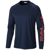 Columbia PFG Terminal Tackle Long Sleeve Mens Shirt, Collegiate Navy, medium
