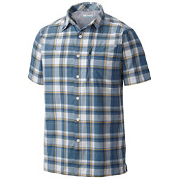 Columbia Silver Ridge Plaid Mens Mens Shirt, Steel Plaid, 256