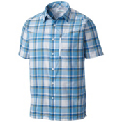 Columbia Silver Ridge Plaid Mens Mens Shirt, Super Blue Plaid, medium