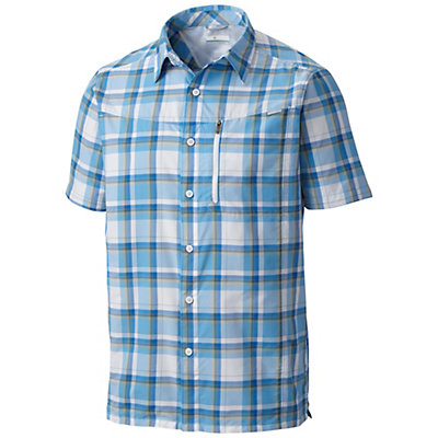 Columbia Silver Ridge Plaid Mens Mens Shirt, Super Blue Plaid, viewer