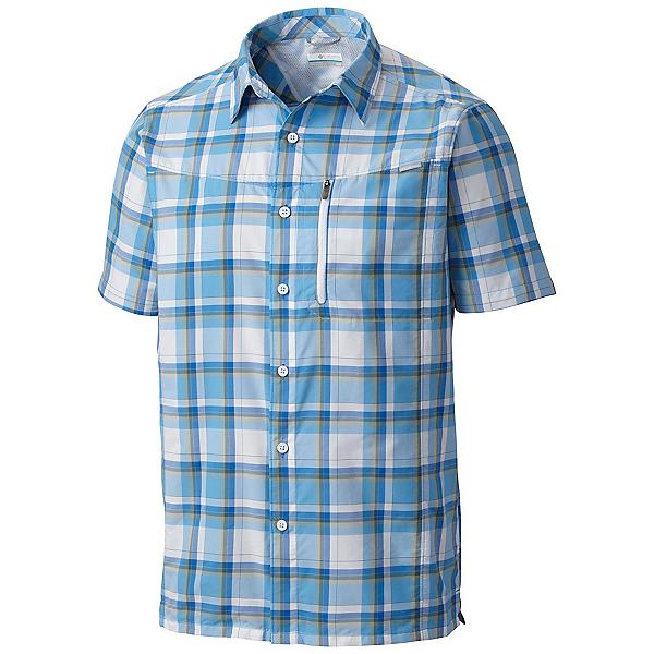 Columbia Silver Ridge Plaid Mens Mens Shirt, Super Blue Plaid, 600