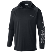 Columbia PFG Terminal Tackle Mens Hoodie, Black-Cool Grey, medium