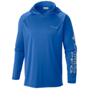 Columbia PFG Terminal Tackle Mens Hoodie, Vivid Blue-Cool Grey, medium