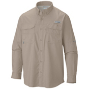 Columbia PFG Blood And Guts III Long Sleeve Shirt, Fossil, medium