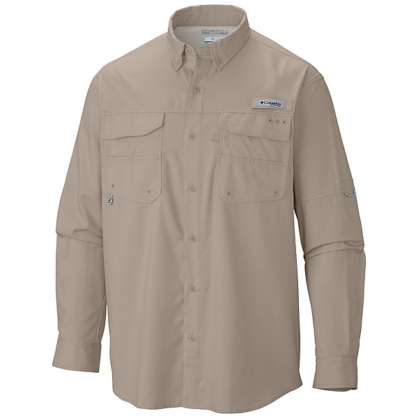 Columbia PFG Blood And Guts III Long Sleeve Mens Shirt, Fossil, 600