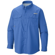 Columbia PFG Blood And Guts III Long Sleeve Mens Shirt, Vivid Blue, medium