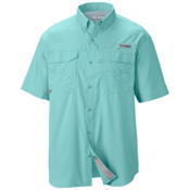Columbia PFG Blood And Guts III Short Sleeve Mens Shirt, Gulf Stream, medium