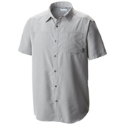 Columbia Pilsner Peak Short Sleeve Mens Shirt, Columbia Grey Heather, medium