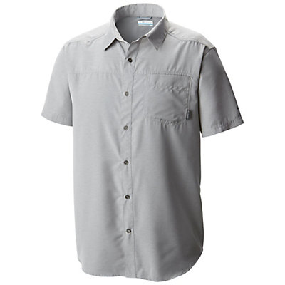Columbia Pilsner Peak Short Sleeve Mens Shirt, Columbia Grey Heather, viewer