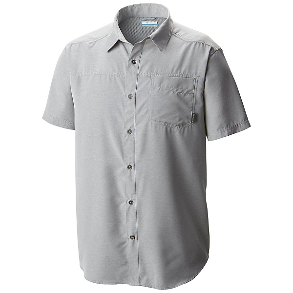 Columbia Pilsner Peak Short Sleeve Mens Mens Shirt, Columbia Grey Heather, 600