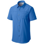 Columbia Pilsner Peak Short Sleeve Mens Shirt, Pacific Blue Heather, medium