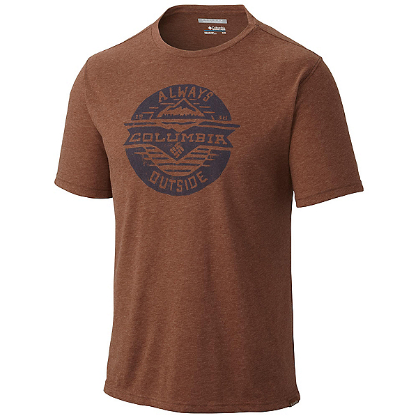 Columbia Trail Shaker Mens Mens T-Shirt, Pony Heather, 600