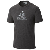 Columbia Trail Shaker Mens T-Shirt, Shark Heather, medium