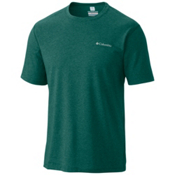 Columbia Silver Ridge Zero Mens T-Shirt, Pine Green Heather, medium