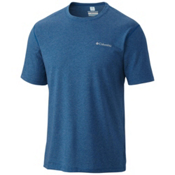 Columbia Silver Ridge Zero Mens Mens T-Shirt, Marine Blue Heather, medium