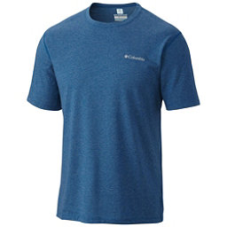 Columbia Silver Ridge Zero Mens Mens T-Shirt, Marine Blue Heather, 256
