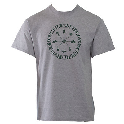 Columbia CSC Nature Medallion T-Shirt, Grey Heather-Pine Green, viewer