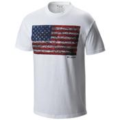 Columbia CSC Tree Flag Mens T-Shirt, White, medium