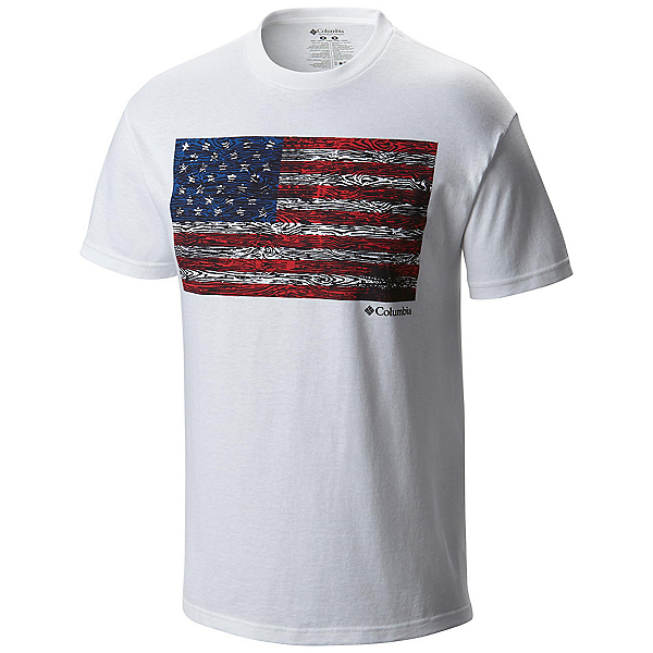 Columbia CSC Tree Flag Mens T-Shirt, White, 600