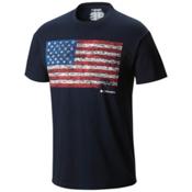 Columbia CSC Tree Flag Mens T-Shirt, Collegiate Navy, medium