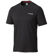 Columbia Titan Ice T-Shirt, Black Heather-Black, medium