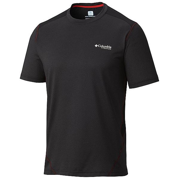 Columbia Titan Ice Mens T-Shirt, Black Heather-Black, 600