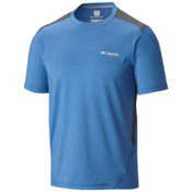 Columbia Titan Ice Mens T-Shirt, Super Blue Heather-Graphite, medium