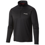 Columbia Titan Ice Half Zip Shirt, Black Heather-Black, medium