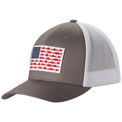 Columbia PFG Mesh Hat, Black-Fish Flag, viewer