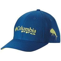 Columbia PFG Mesh Pique Hat, Marine Blue-Dorado, 256