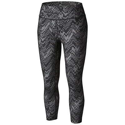 Columbia Trail Bound Capri Tight Womens Pants, Black Chevron Fractile, viewer