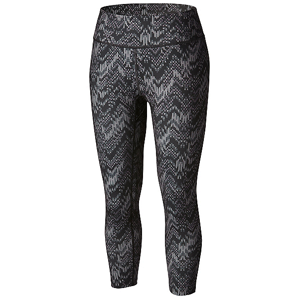 Columbia Trail Bound Capri Tight Womens Pants, Black Chevron Fractile, 600