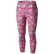 Columbia Trail Bound Capri Tight Womens Pants, Haute Pink Cloudy Camo, medium