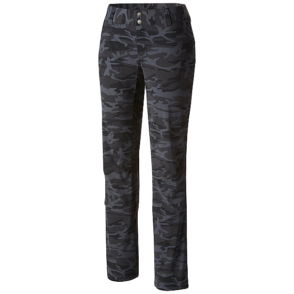 Columbia Saturday Trail Printed Womens Pants, Black Camo, 600