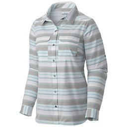 Columbia Pilsner Peak Stripe Long Sleeve Womens Shirt, Cypress Stripe, 256