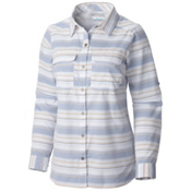 Columbia Pilsner Peak Stripe Long Sleeve Womens Shirt, Bluebell Stripe, medium
