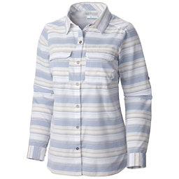 Columbia Pilsner Peak Stripe Long Sleeve Womens Shirt, Bluebell Stripe, 256