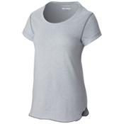Columbia Trail Shaker Short Sleeve Womens Shirt, Cirrus Grey Heather, medium