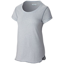 Columbia Trail Shaker Short Sleeve Womens Shirt, Cirrus Grey Heather, 256