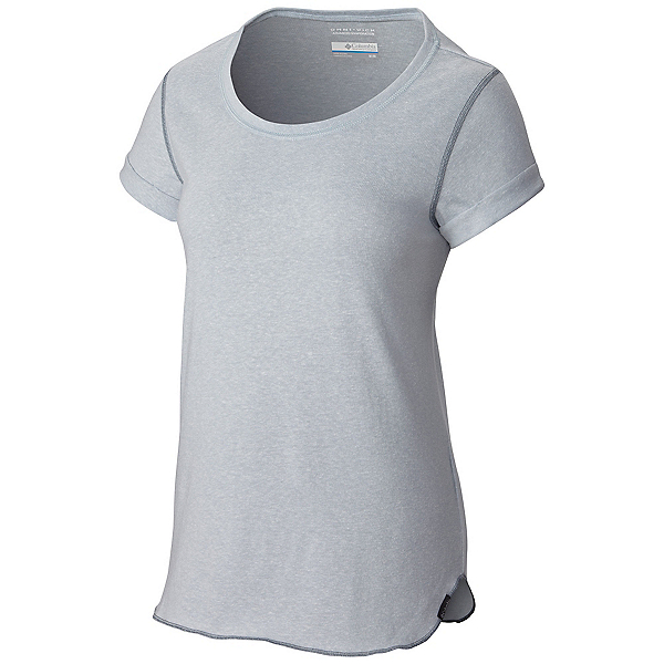 Columbia Trail Shaker Short Sleeve Womens Shirt, Cirrus Grey Heather, 600