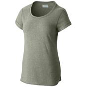 Columbia Trail Shaker Short Sleeve Womens Shirt, Cypress Heather, medium