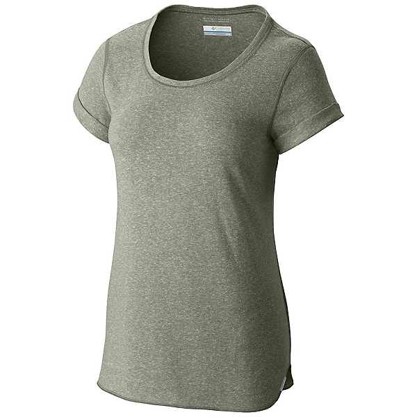 Columbia Trail Shaker Short Sleeve Womens Shirt, Cypress Heather, 600