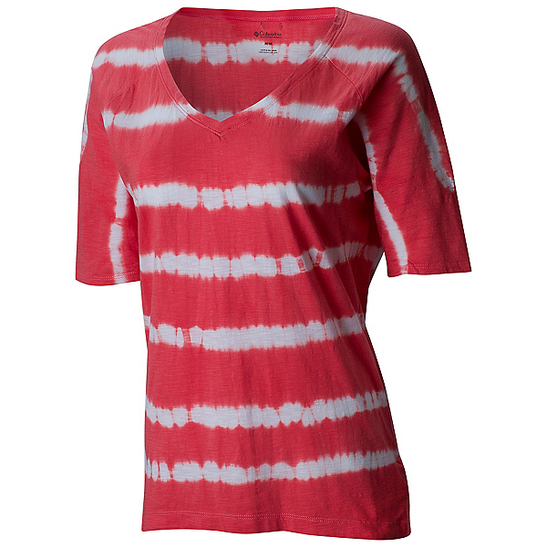 Columbia Summer Breeze Womens T-Shirt, Coral Bloom, 600