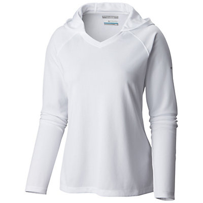 Columbia PFG Skiff Agua Womens Hoodie, White, viewer