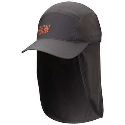 Mountain Hardwear Cooling Ravi Flap Cap Hat, Shark-State Orange, viewer